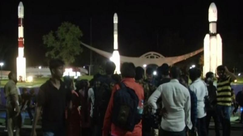 Students from different schools, along with their teachers had gathered here to catch a glimpse of the launch. (Photo: ANI)