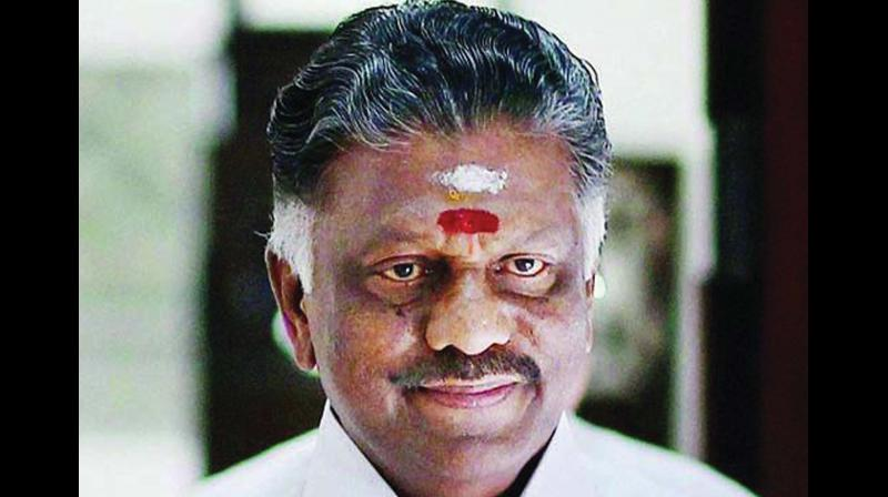 Deputy Chief Minister Mr O. Pannserselvam