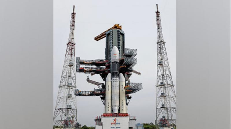 Chandrayaan-2, India's indigenous moon mission is set to launch from the Satish Dhawan Space Centre at Sriharikota in Nellore district of Andhra Pradesh at 2.43 pm on Monday. (Photo: File)