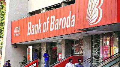 Shares of Bank of Baroda were trading 4 per cent lower against their previous close at Rs 97.20 apiece on BSE.