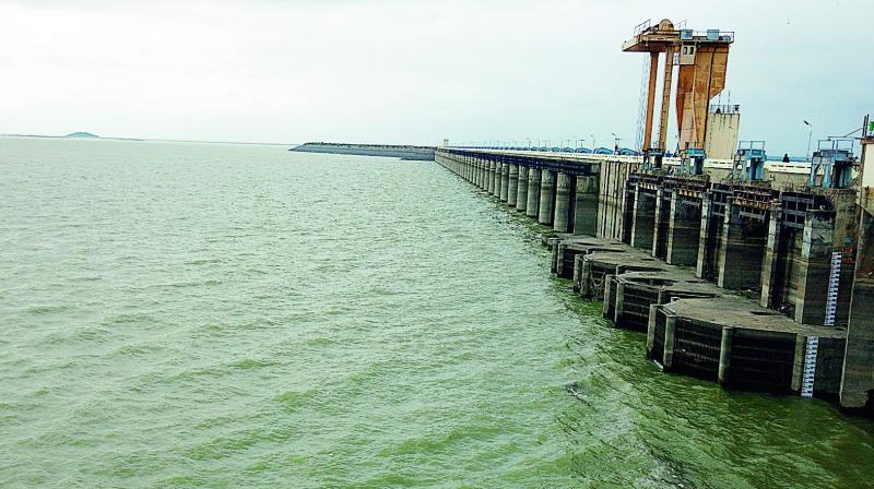 An irrigation official said the inflows surged from 2,617 cusecs to 30,320 cusecs by 11 am on Saturday. It later stabilised at 20,215 cusecs.