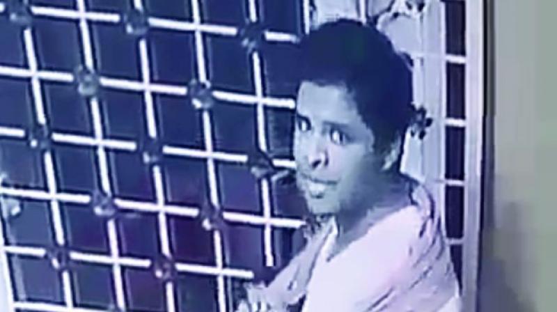 CCTV grab of D. Venkat Sukru the prime suspect