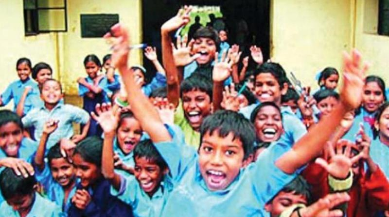 A source from the education department stated that boys and girls between three and four-years-old, are eligible to be admitted to the LKG class. Each child is provided with uniforms, books and shoes.