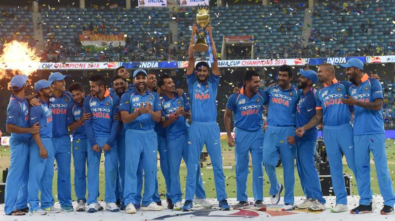 Even without batting star and regular captain Virat Kohli, India powered their way to the Asia Cup title in Dubai, outlasting Bangladesh by three wickets off the last ball in the final. (Photo: AFP)