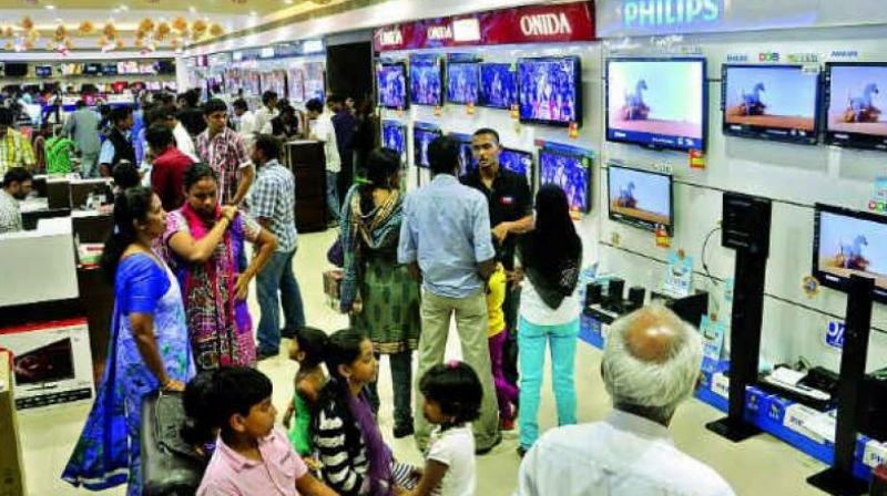 Leading consumer durable maker Samsung, is expecting double-digit growth in TV panel market, during this festive season sales. (Photo: Representational)