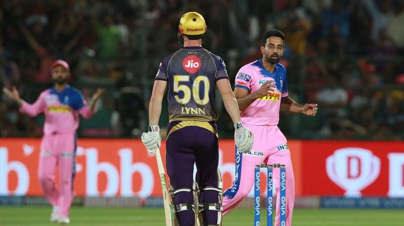 Lynn went on to make 50 off 32 balls, while Sunil Narine hit a 47 as the duo shared 91 runs for the opening stand in 8.3 overs to help KKR reach the victory target of 140 with 6.1 overs to spare. (Photo: BCCI)