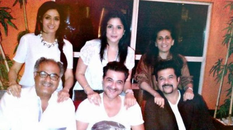 Boney Kapoor-Sridevi, Sanjay and Maheep, Anil and Sunita Kapoor.
