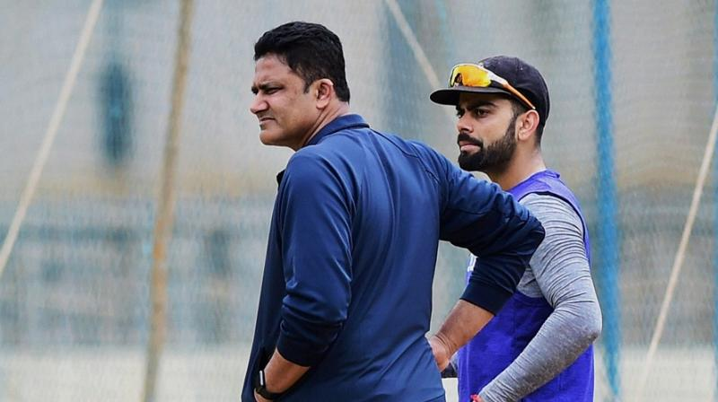 Virat Kohli attributed Team India's good performance under head coach Anil Kumble to equal contribution from all and sundry. (Photo: PTI)