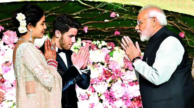 "Prime Minister Narender Modi put up a picture of him wishing the newly weds on his insta account. Priyanka Chopra too thanked the PM. ""A heartfelt thank you to our Hon'ble Prime Minister Shri@narendermodiji for gracing us with your presence. Touched by your kind words and blessing @nickjonas"""