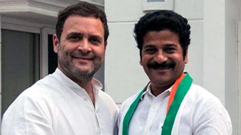 Revanth who was in Delhi on Tuesday joined Congress in presence of party vice president Rahul Gandhi. (Photo: ANI | Twitter)