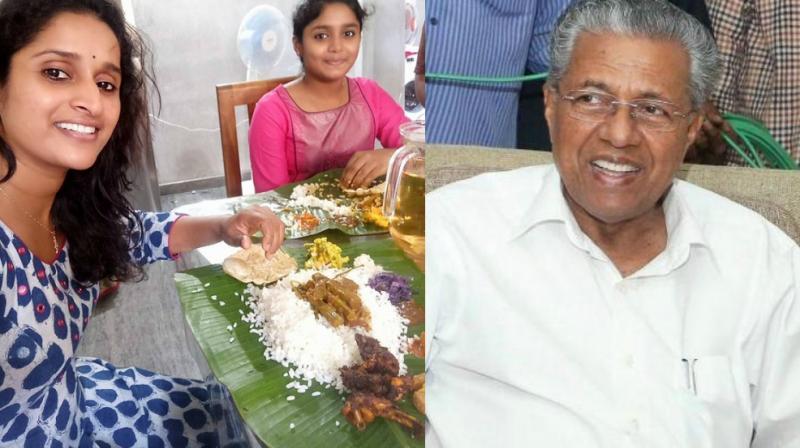 Surabhi Lakshmi and Pinarayi Vijayan.