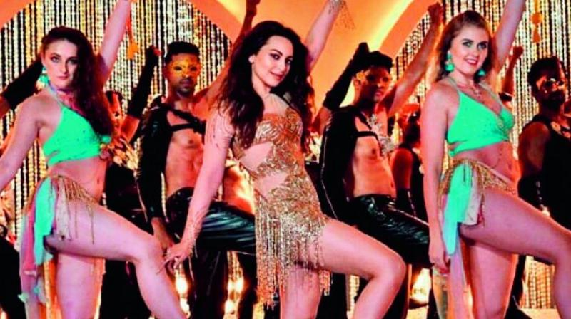 Sonakshi Sinha in a still from the remixed track Mungda.