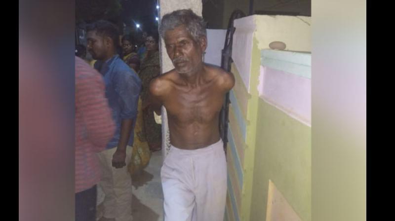 The accused was identified as Venkataiah. (Photo: ANI)