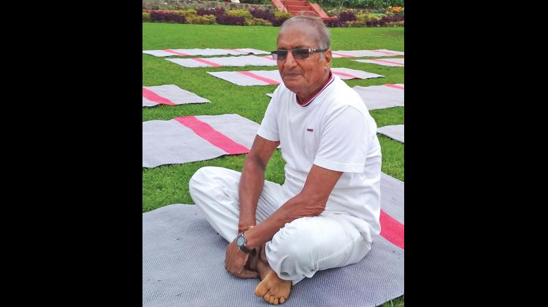 M.V.M.V. Narayanamurthi, the 74-year- old yoga guru in Ooty.	—DC