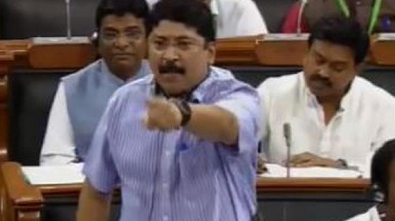 DMK leader Dayanidhi Maran accused the AIADMK government. (Photo: ANI)
