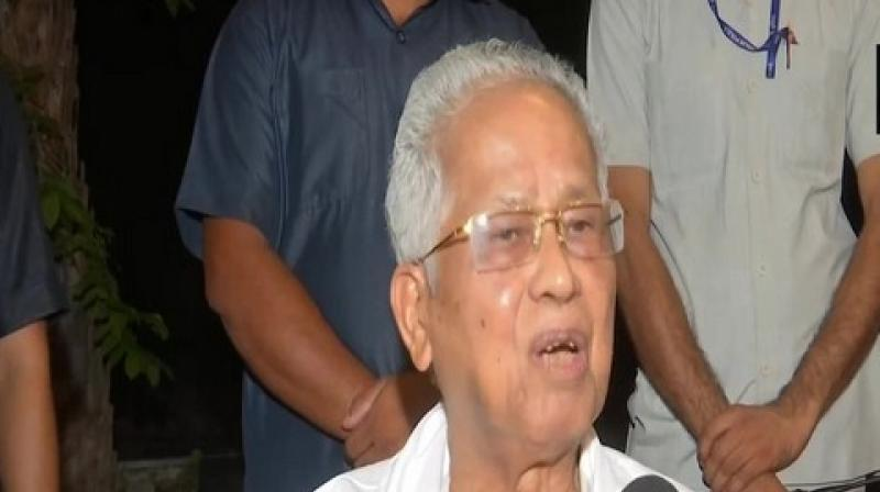 Former Assam chief minister Tarun Gogoi on Wednesday said if Rahul Gandhi does not want to continue as Congress president then an alternative should be found without delay. (Photo: ANI)