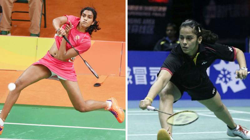 Saina took 37 minutes to overcome World No.20 Chinese Chen Xiaoxin 21-12, 21-18 while Sindhu stream-rolled Goh Jin Wei of Malaysia 21-12, 21-9.