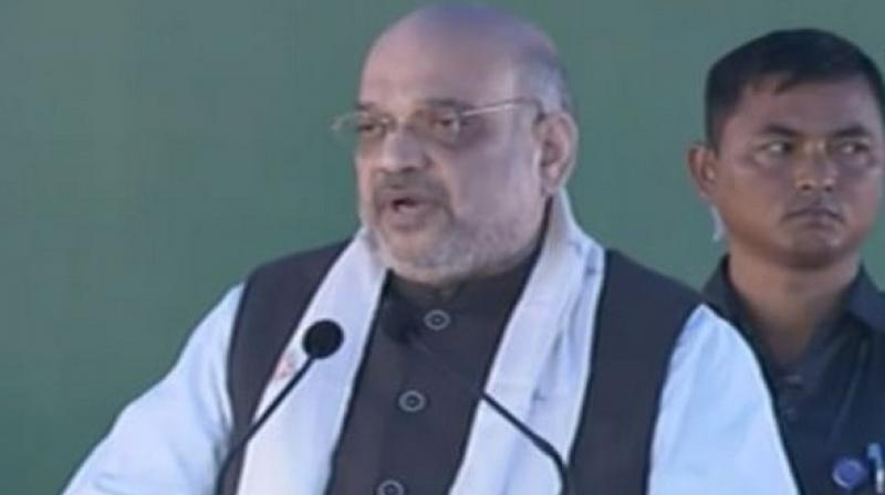 Shah also assured Mizoram Chief Minister Zoramthanga of necessary assistance for the development of the state. (Photo: ANI)