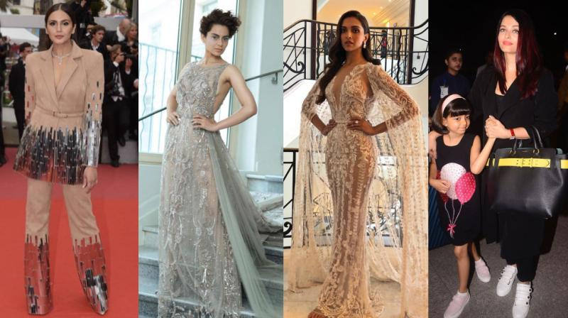 Huma Qureshi, Kangana Ranaut, Deepika Padukone at Cannes, Aishwarya Rai Bachchcan leaves for festival with daughter Aaradhya. (Photo: L-R, Twitter, Twiter, Instagram, Viral Bhayani)