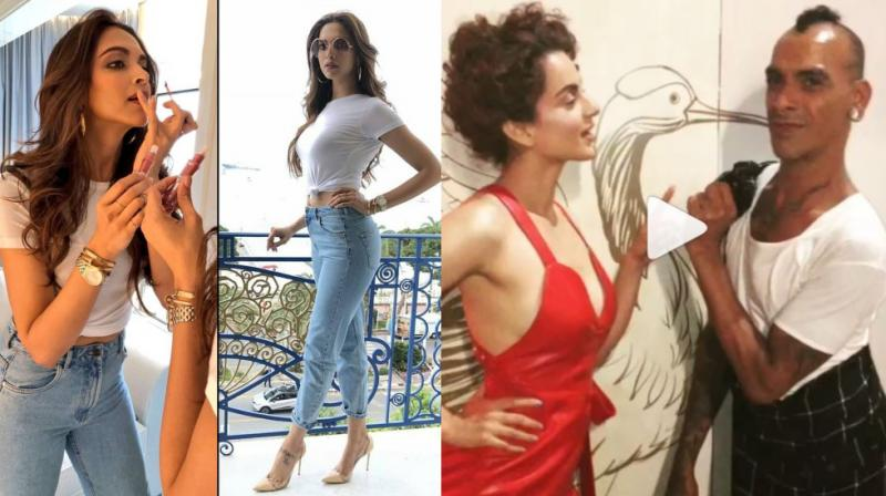 Deepika Padukone and Kangana Ranaut on first day of Cannes 2018. (Photo: Instagram)