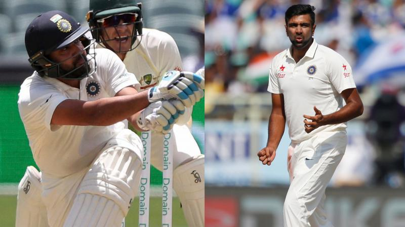 While R Ashwin suffered an abdominal strain and Rohit Sharma hurt his back during the first Test which India won by 31 runs in Adelaide. (Photo: AP)