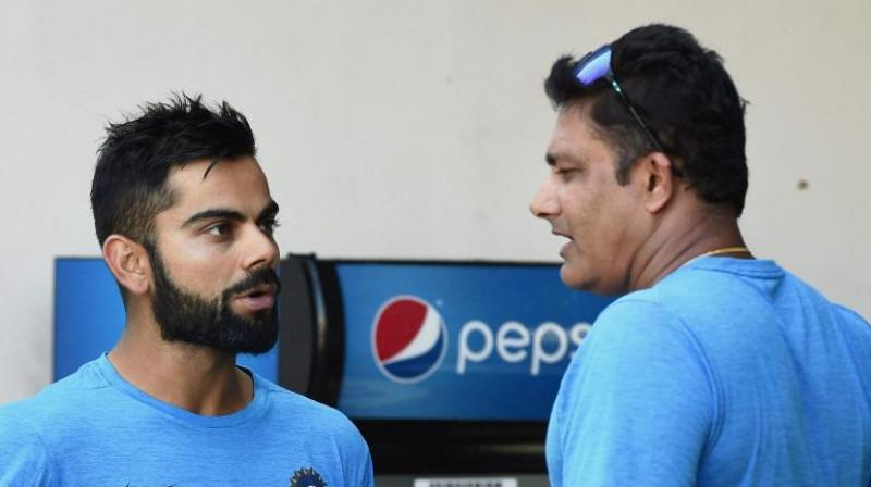 Anil Kumble and Virat Kohli.