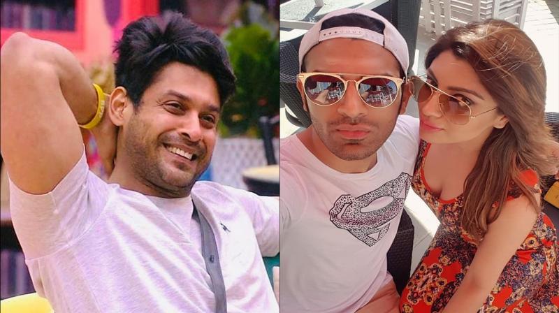 Sidharth Shukla, Paras Chhabra and Akanksha Puri. (Photo: Instagram)