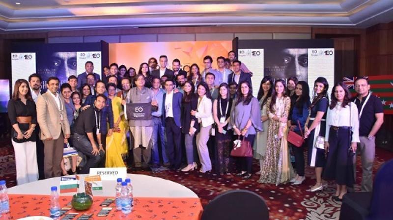 EO Gurgaon members with Dr. Shashi Tharoor and Senior TOI Editor, Indrani Bagchi