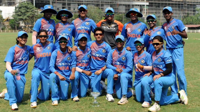 Harmanpreet Kaur-led India were already in semi-finals after winning their first three matches but didn't let the intensity down against the formidable Australia in an inconsequential last group league encounter. (Photo: Twitter / BCCI Women)