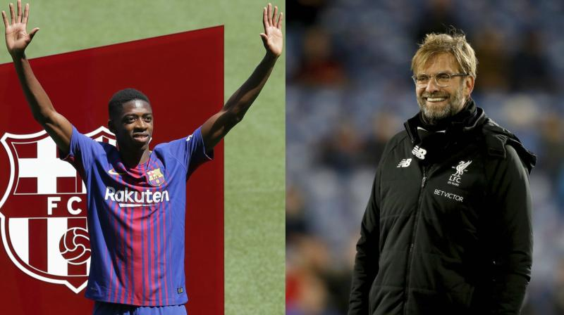 Dembele only joined Barca from Borussia Dortmund last year and Klopp admitted he would be surprised if the France star was available to sign. (Photo: AP)