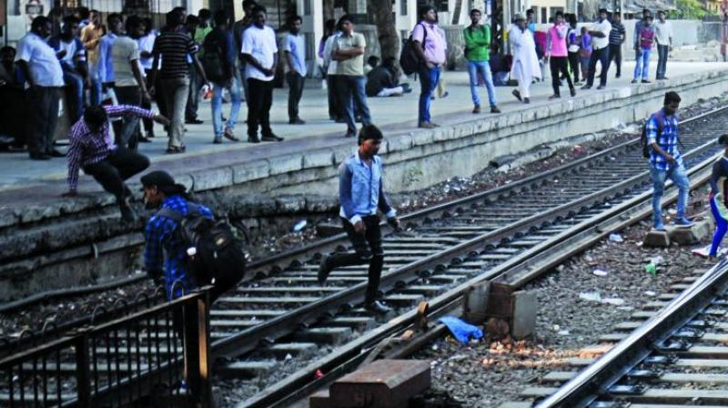 south central railways fines people for trespassing tracks