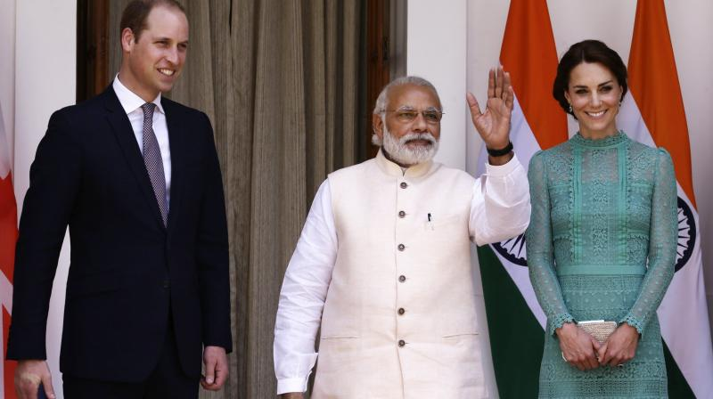 File image of Prince William and Kate Middleton from their India visit. (Photo: AP)