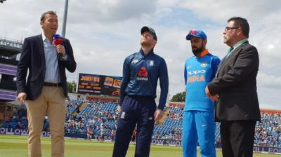 England won the toss and put India to bat. (Photo: Twitter / BCCI)