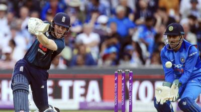Eoin Morgan in action against India. (Photo: AP)