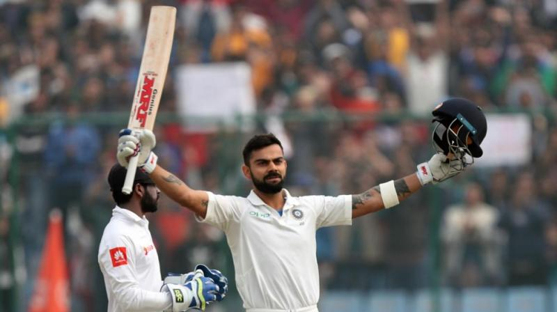 Virat Kohli's first-innings knock of 243 was followed with 50 as he finished with 610 runs in the series, which India won by 1-0.(Photo: BCCI)