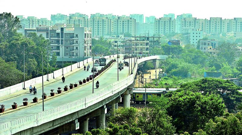 Lingampally, once a sleepy village on the outskirts of Hyderabad, has transformed into a cosmopolitan hub for techies with all modern amenities. (Photo: DC)