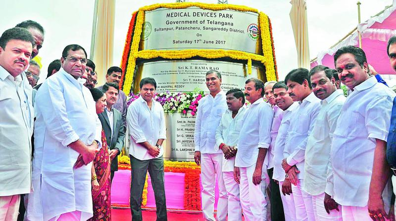 Medical devices park opened in Sangareddy district of Telangana