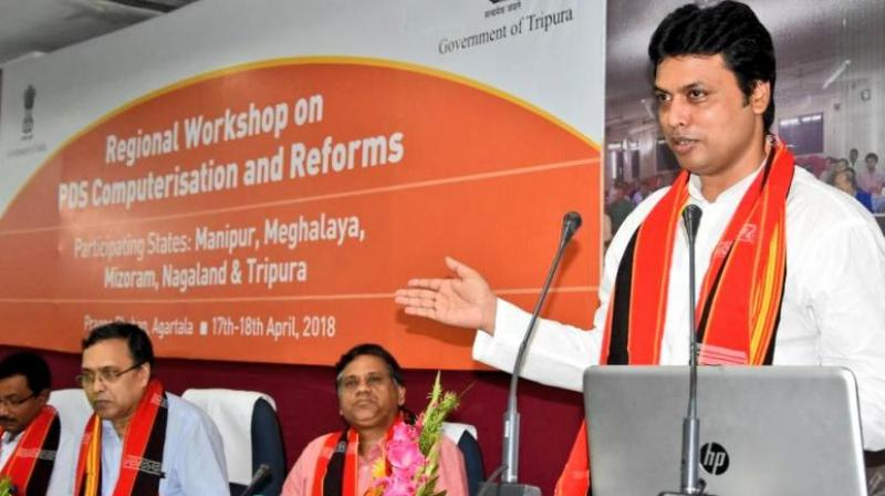 Internet, satellites existed in India since Mahabharat times claims Tripura CM