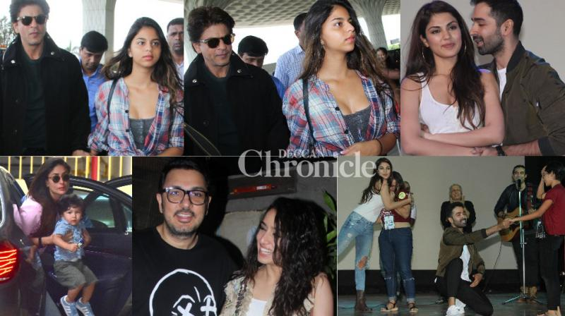B-Town stars stepped out for professional and personal reasons in Mumbai on Sunday and were snapped by the paparazzi. (Photos: Viral Bhayani)