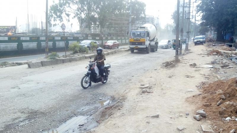 Metro work has disrupted traffic on Bannerghatta Road and BTM Layout (Image DC)