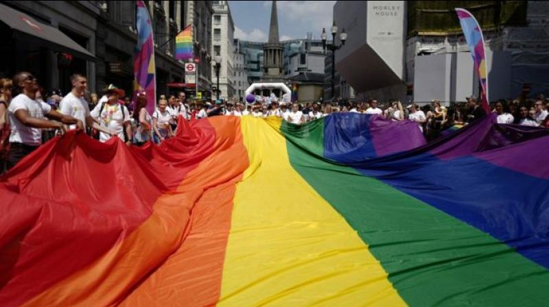 Four LGBT Syrian refugees arrived just in time for Pride celebrations in central London. (Photo: AFP)