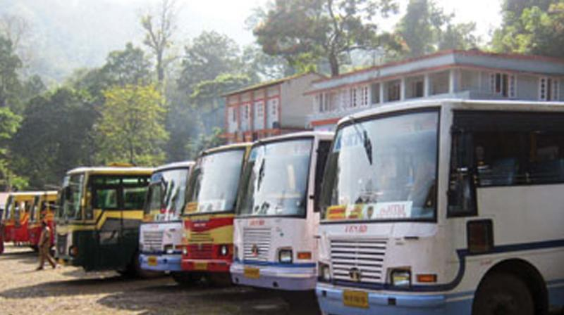 The petitioner stated that a resolution of the RTC board in 2013 said hired buses should not exceed 25 per cent of the fleet strength. The Karmika Sangh alleged the current round of hiring buses would take the figure in excess of 30 per cent.