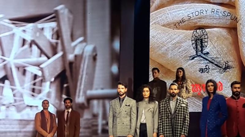 Khadi by Raymond fashion show (Photo: Youtube screengrab)