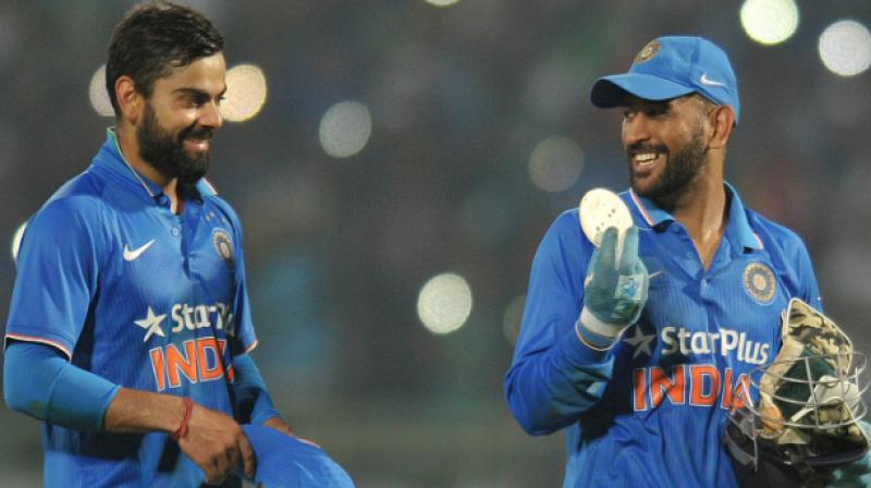 Virat Kohli and MS Dhoni. (Photo: AFP)