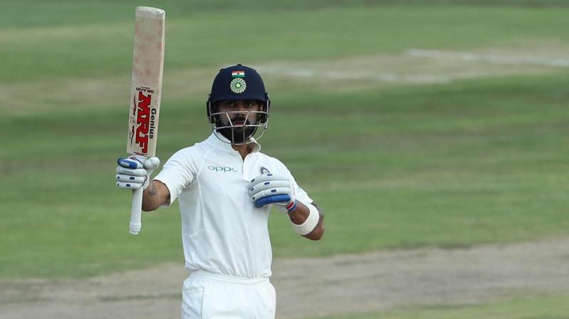 Virat Kohli's unbeaten 85 helped India reach 183-5 at stumps on Day 2. (Photo: BCCI)