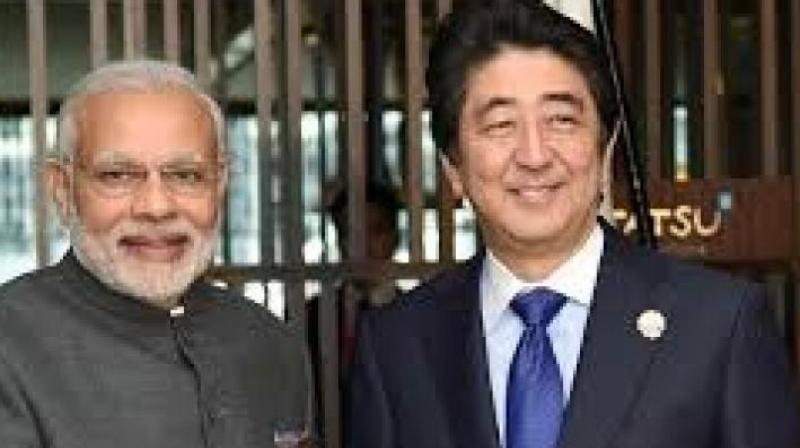 Indian Prime Minister Narendra Modi and Japanese Prime Minister Shinzo Abe