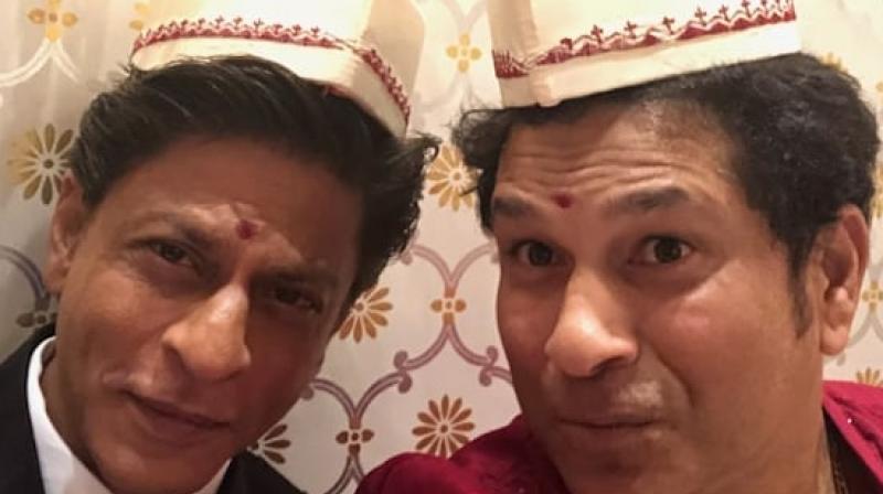 The selfie posted by Sachin Tendulkar on Instagram.