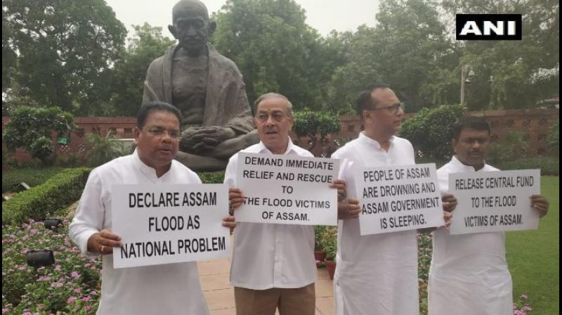 Flood situation in Assam be declared as national problem: Congress MP