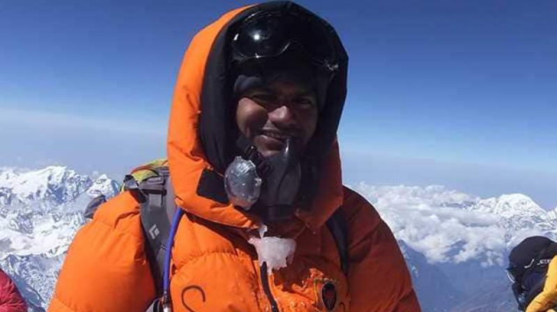 Kumar is the first and only IAS officer of India who has climbed Mt Everest. (Photo: shriravindrakumar.com)