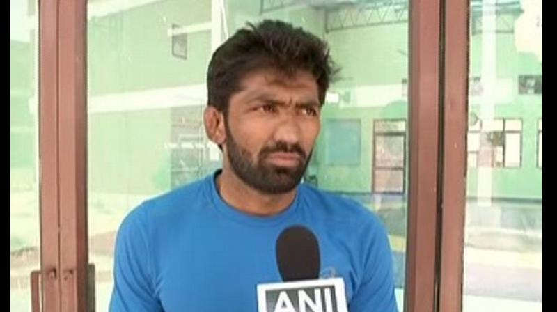 The wrestler said, 'It is not finalised yet but yes, discussions are on'. (Photo: ANI)